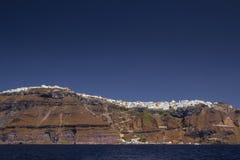 Fira stad (Thera), Santorini - Grekland Arkivfoton