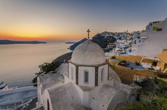 Fira sunset Stock Images