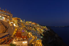 Thira at sunset Stock Images