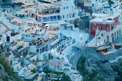 Fira at sunset. Santorini, Cyclades, Greece. Royalty Free Stock Image