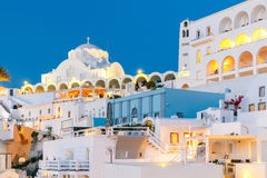 Fira at sunset. Santorini, Cyclades, Greece. Royalty Free Stock Photo