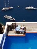 Fira Swimmingpool Lizenzfreie Stockfotos