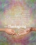 Fira tacksägelsen tillsammans arkivbilder