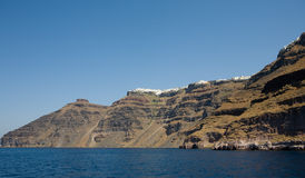Fira (Thira). Santorini, Griechenland Stockfotografie