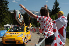 Fira Tour de France Royaltyfri Bild