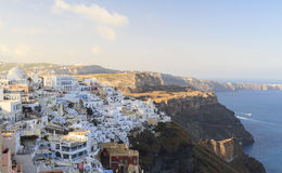 Fira town on Santorini Stock Photos