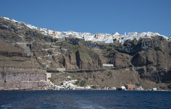 Fira Town, Santorini, Greece Royalty Free Stock Images