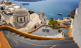 Fira town Santorini Royalty Free Stock Photos
