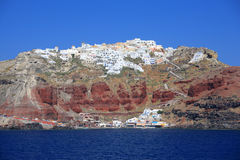 Fira town at Santorini island Stock Image