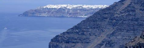 Fira town at Santorini island Stock Photo