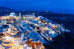 Fira town, Santorini island Stock Image