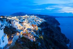 Fira town, Santorini island Stock Photos