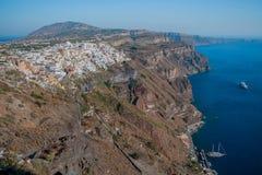 Fira town, Santorini Royalty Free Stock Photos