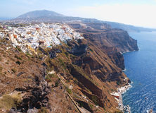 Fira town in Santotini Royalty Free Stock Photography