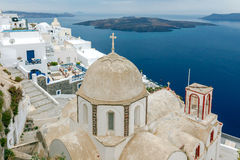 Fira. Traditional Greek church. Stock Images