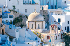 Fira. Traditional Greek church. Stock Image
