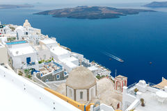 Fira. Traditional Greek church. Royalty Free Stock Image