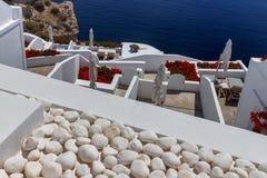 Fira Tradycyjna architektura Santorini Fotografia Royalty Free