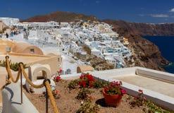 Fira Tradycyjna architektura Santorini Zdjęcie Stock
