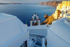 Fira Tradycyjna architektura Santorini Fotografia Stock