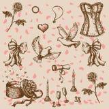 Fira valentins dag Vektor Illustrationer