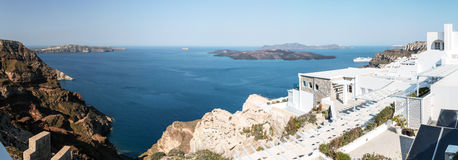 Fira. View of the town of Fira which is the capital of Santorini Stock Photography