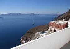 Fira, the village on the edge of caldera, Santorini Island Stock Photography