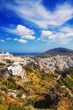 Fira village on Santorini island Royalty Free Stock Images