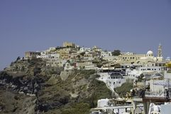 Fira village scenic view Royalty Free Stock Images