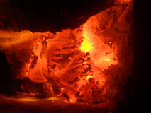 Fire 005. Fire and blaze in an oven stock photography