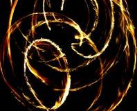Fire. Circles royalty free stock photo