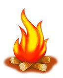 Fire. Digital illustration realized with photoshop. A fire that burns Royalty Free Stock Photography
