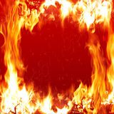 Fire. Burning background Stock Photography