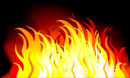 Fire. Abstract  illustration of flames over a black background Royalty Free Stock Photo
