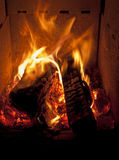Fire. And pieces of wood Royalty Free Stock Photo