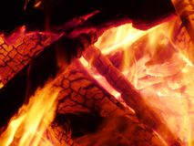 Fire. Detail of a campfire stock photo