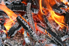 Fire. This is a close up shot of fire under my grill like nice background Royalty Free Stock Photo