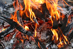 Fire. This is a close up shot of fire under my grill like nice background Stock Photos
