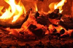 Fire. A macro of coal in a fire Stock Photos