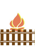 Fire. Isolated white backgrounds Stock Illustration