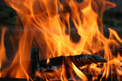 Fire. This is a close up shot of fire under my grill like nice background Royalty Free Stock Image
