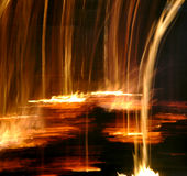 Fire. Fall on wonderful black background Royalty Free Stock Photography