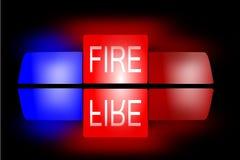Fire. 911 alarm man help vector illustration
