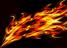 Fire. Illustration of fire flames on black background Stock Image