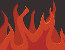 Fire. Burning on black background Vector Illustration