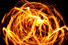 Fire. Juggler light trails during Royalty Free Stock Photos