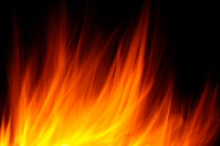 Fire. Natural fire in the night Royalty Free Stock Photography