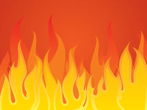 Fire. Flames In The Dark, editable vector illustration Royalty Free Stock Image