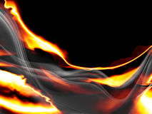 Fire. An image of a fire and smoke background Royalty Free Stock Photo