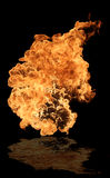 Fire. Big fire flame relfected on floor Stock Photography